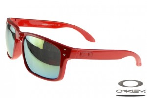red oakleys  Foakley M Frame sunglasses matte red and black frame rainbow lens ...
