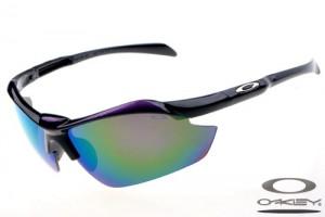 oakley sunglasses green nqcz  Oakleys Sport sunglass / green polished black