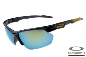 black and yellow oakley sunglasses 194m  Oakleys Sport sunglass / green black and yellow
