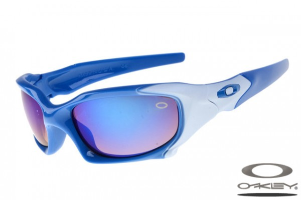 blue and white oakley sunglasses jadi  Oakleys Pit Boss sunglass / purple blue and white