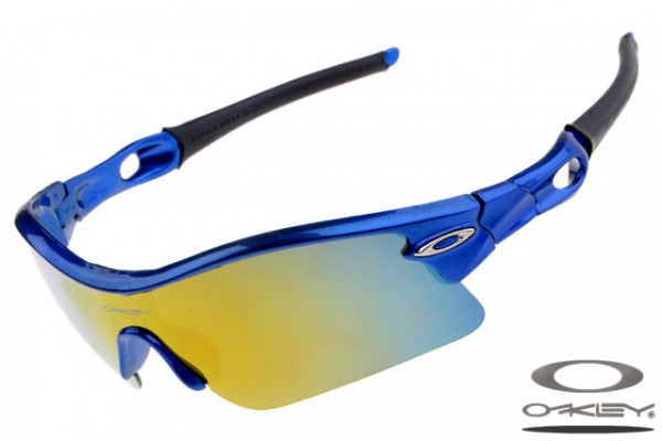 blue frame oakley sunglasses ioro  Oakleys Radar Pitch sunglass / ice iridium royalblue