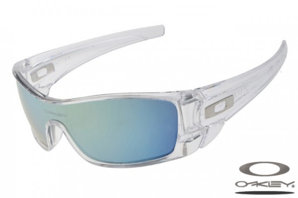 womens oakley safety glasses  oakleys batwolf sunglass / ice iridium clear white