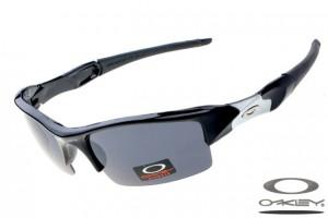 Quick View � Oakleys Flak Jacket sunglass / grey polished black and white  ...