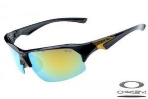 Oakleys Sport sunglass / green and yellow polished black