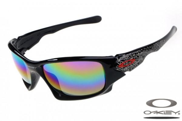 9e6fbae6b4f sweden discount oakley big taco polished black rainbow lens e0cea 979ce