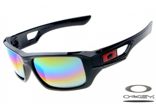 6e317466f1 Fake Oakley Eyepatch-2 sunglasses polished black frame rainbow lens ...