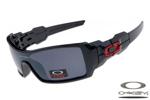 301459302a3bb Fake Oakley Oil Rig sunglasses polished black frame dark lens ...
