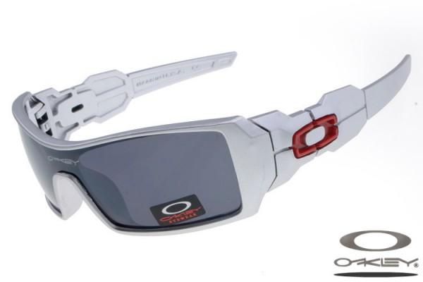 005ba5b60ca76 Fake Oakley Oil Rig sunglasses silver frame grey lens