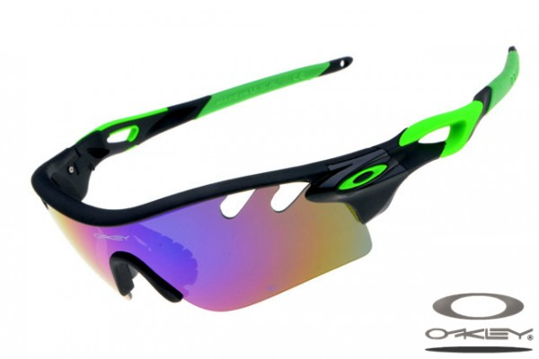f4ee65d14d Fake Oakley Radarlock Path sunglasses black and green frame purple ...