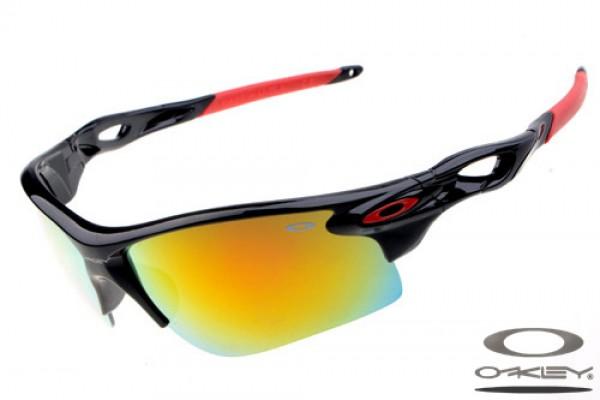 7edef6e71415a Fake Oakley Radarlock Path sunglasses polished black and red frame ...