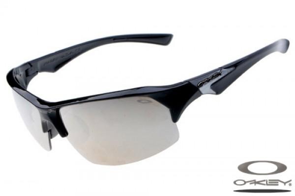 115ab66c3d057 Replica Oakley Sport sunglasses polished black frame white lens ...