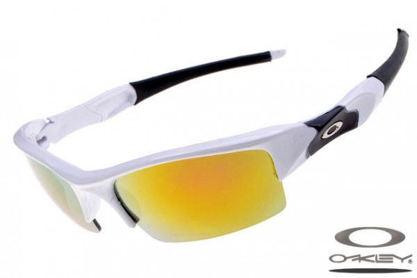 20af835632 Top quality fake Oakleys Flak Jacket sunglasses white and black ...