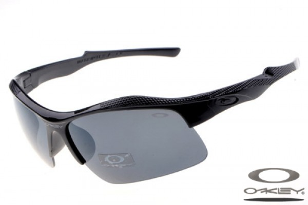 ca28ac9483 Wholesale Oakley Sport sunglasses polished black frame grey lens ...